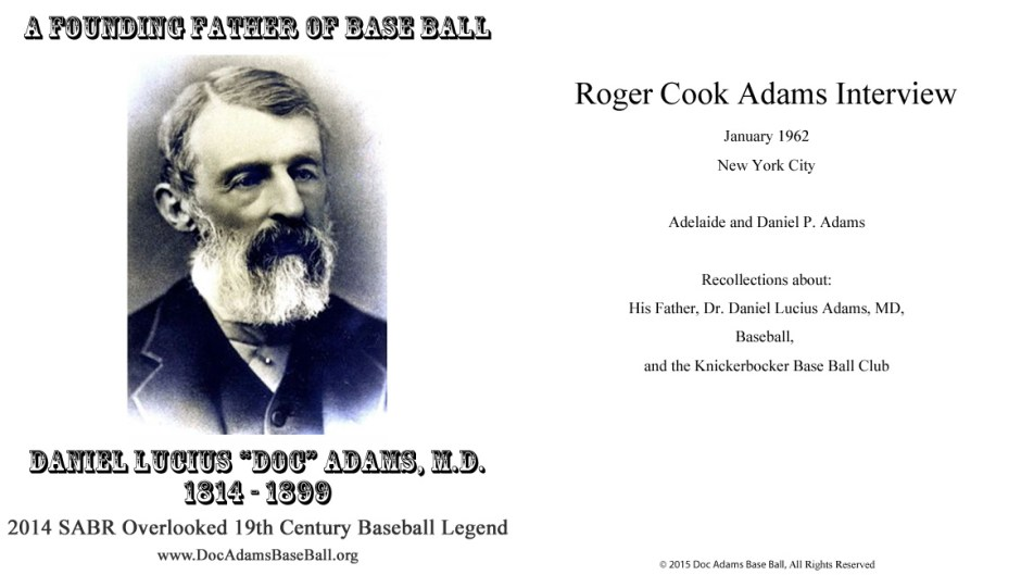 Roger Cook Adams Interview