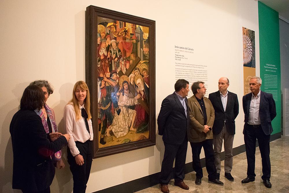 DO Campo de Borja costea la restauración de una pintura gótica