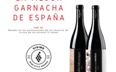 Dos vinos de Alto Moncayo ganadores de Vivino's 2020 Wine Style awards