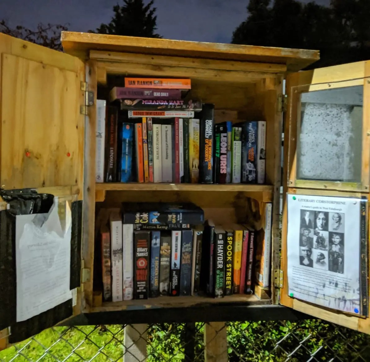 Outdoor library for free exchange