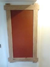 Rustic Oak Pin-Board made using Linoleum self healing board H130 x W70 cm £95