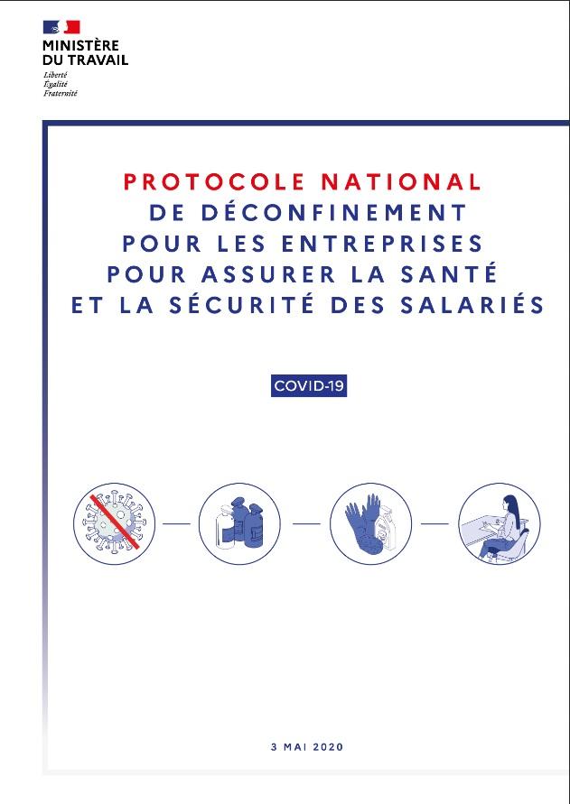 Protocole national de déconfinement pour les entreprises pour assurer la santé et la sécurité des salariés