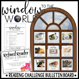 Window to the World is a reading challenge that doubles as an interactive bulletin board.