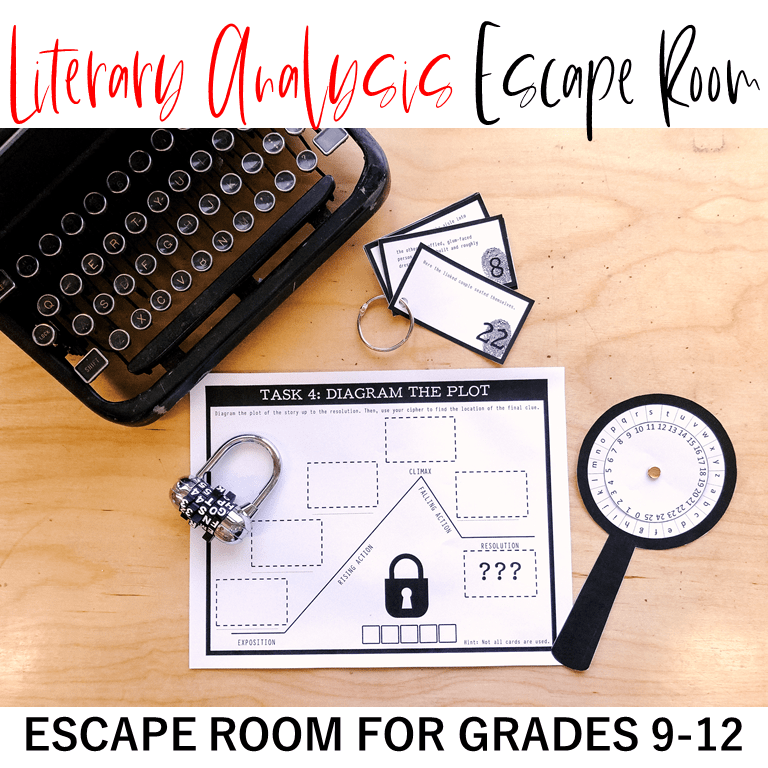 Educational escape rooms are an amazing classroom tool to encourage critical thinking and team building! This post will give you ideas and instructions to create breakout themes, puzzles, and room transformations for high school students in any content! #englishteacher #escaperoom #breakout