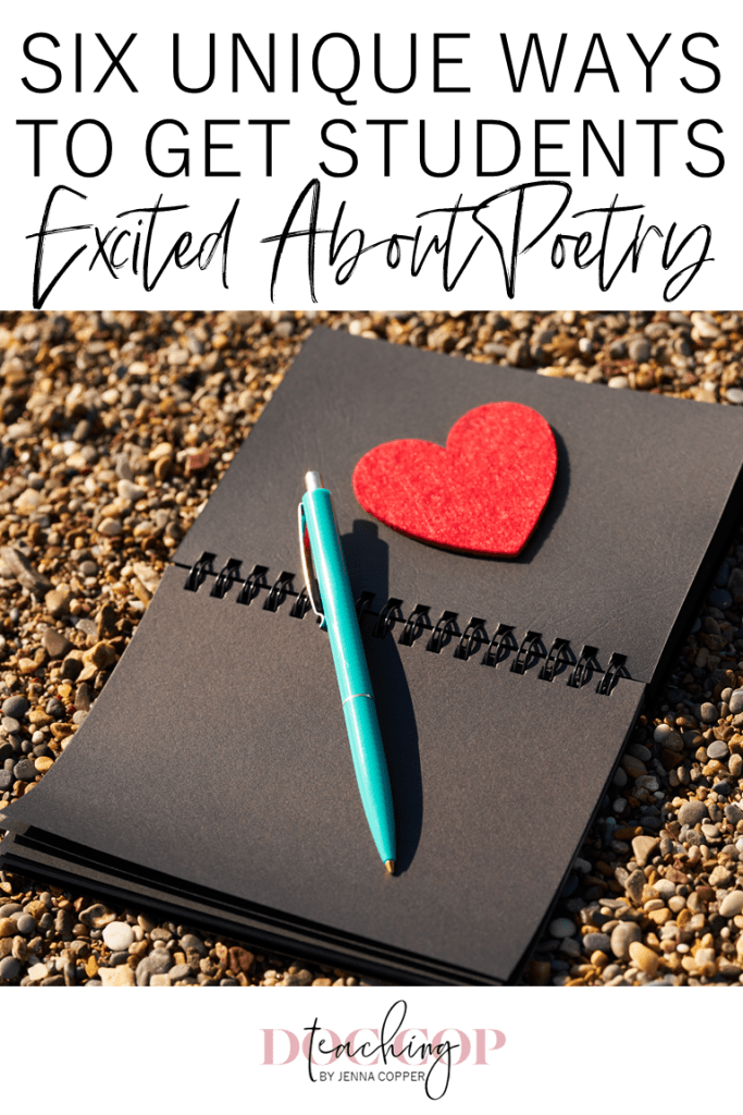 Teaching poetry in high school and middle school can be challenging, but it doesn't have to be. This post explains a new approach by using different interests to appeal to students. Click to find activities, lesson plans, anchor charts, and strategies to make poetry fun for teens. #teachingpoetry #reading #poetry #englishteacher #elateacher