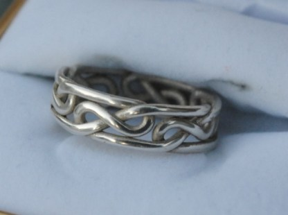 Celtic Eternity Knot Ring in Silver, or the Celtic Infinity Knot Ring