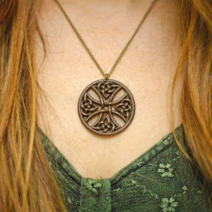 Celtic Warrior Shield Necklace