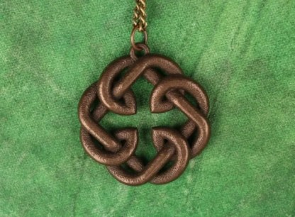 Father's Knot Necklace Bronze