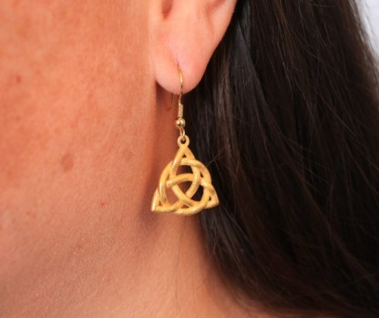 Triquetra Earrings, or Trinity Knot Earrings