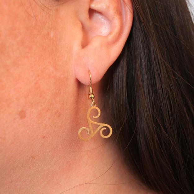 Triskele Earrings Do Celtic Jewelry
