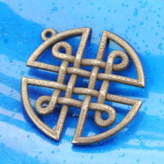 Celtic Knot Shield Pendant - Bronze