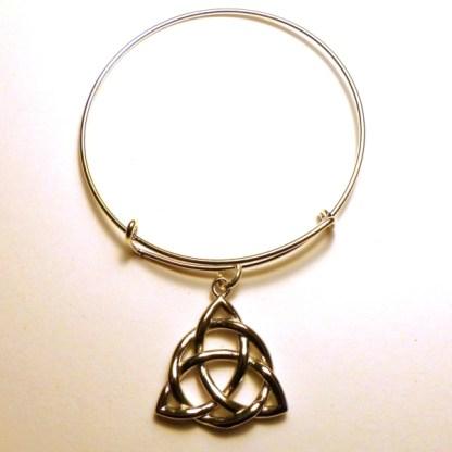 Triquetra Bangle Bracelet