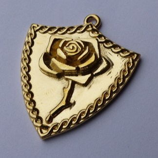 Bleeding Rose Shield Pendant