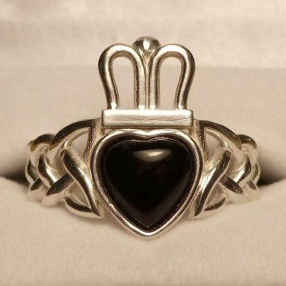 Onyx Claddagh Ring