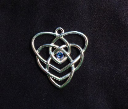 Motherhood Knot Pendant with One Birthstone