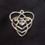 Celtic Motherhood Knot Birthstone Pendant