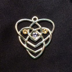 Birthstone Motherhood Knot Necklace