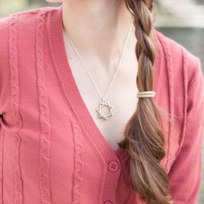 Septagram Necklace Silver