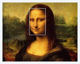 Leonardo da Vinci's Mona Lisa The face can be circumscribed by a golden rectangle.