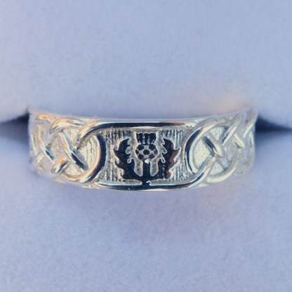 Scottish Thistle Ring Silver