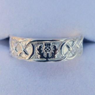Scottish Thistle Ring Silver