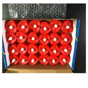 24 Velas Eletrônicas Coração Vermelho Led Amarela + 72 Baterias