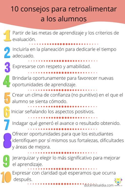 10 Consejos para retroalimentar a los alumnos