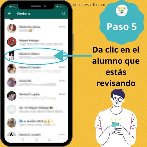 Cómo calificar trabajos en WhatsApp 5