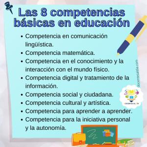 Las ocho competencias básicas en educación