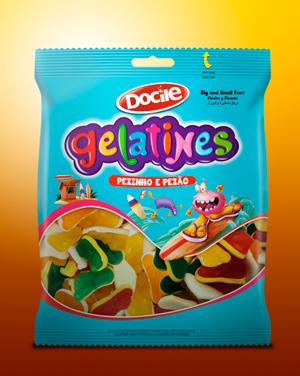 Lançamento da Docile formatos exclusivos na linha Gelatines.