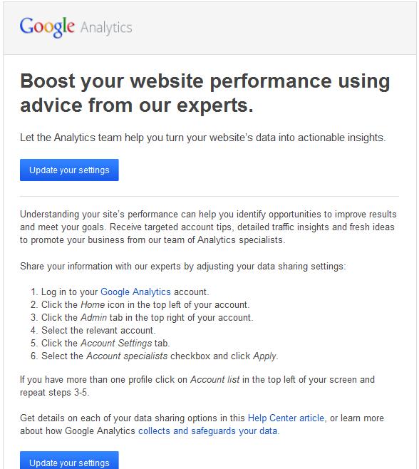 Google Analytics Experts Email