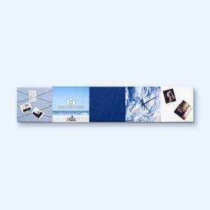 Dock Four blauwe wanddecoratie voor woon- & slaapkamer, extra grote combinatie 3