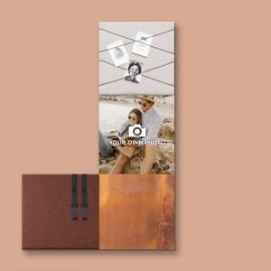 Dock Four bruin wanddecoratie voor woon- & slaapkamer, grote combinatie 6