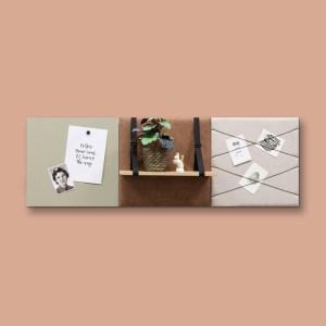 Dock Four bruin wanddecoratie voor woon- & slaapkamer, medium combinatie 2