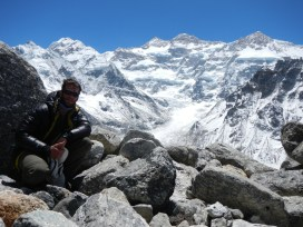 After 8.5 days of walking I finally made it to the start point for the Great Himalaya Trail, Kanchenjunga Base Camp (5143m)