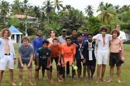 Students of Ecole Jeannine Manuel School, France at The Oxford School Trivandrum