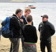 Brent and Kari Beaven and Ulva Island Trust Chair, Matt Jones.