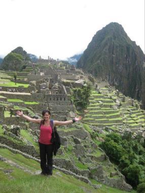 Amanda at Machu Pichu in Peru.