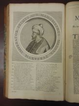 Mehmed II, or Mehmed the Conquerer, reigned from 1444 to 1446, and again from 1451 to 1481. He conquered Byzantine Constantinople in 1453. p. 229 This is one of only two poems that Knolles wrote in first-person, from the sultan's perspective. The other was Murad III (the last poem in this post). I don't know if there's an obvious connection that would explain why Knolles distinguished these two sultans from the others, but it's an interesting choice to make!