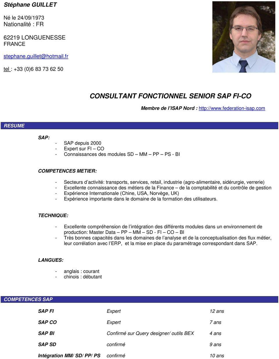 Consultant Fonctionnel Senior Sap Fi Co Pdf Free Download
