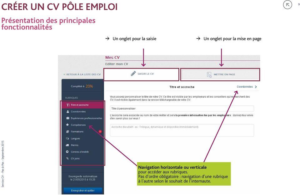 Kit Mini Atelier Service Cv Pole Emploi Pas A Pas Pdf Free Download