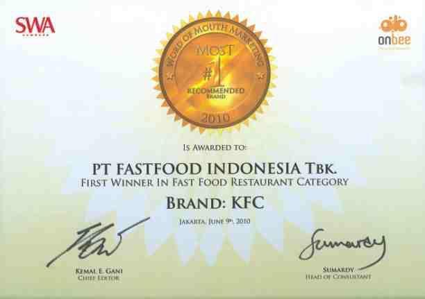 Bab I Pendahuluan Pt Fastfood Indonesia Tbk Adalah Pemilik Tunggal Waralaba Kentucky Fried Chicken Kfc Pdf Free Download