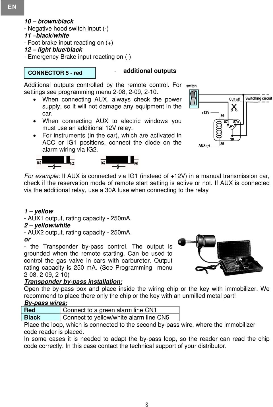 page_8 car alarm system diagram dolgular com uniden car alarm wiring diagram at crackthecode.co