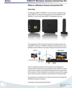 DIRECTV Wireless Cinema Connection Kit  PDF