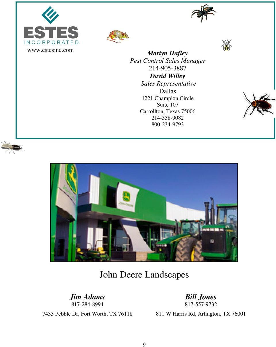 GREATER TARRANT COUNTY PEST CONTROL ASSOCIATION July