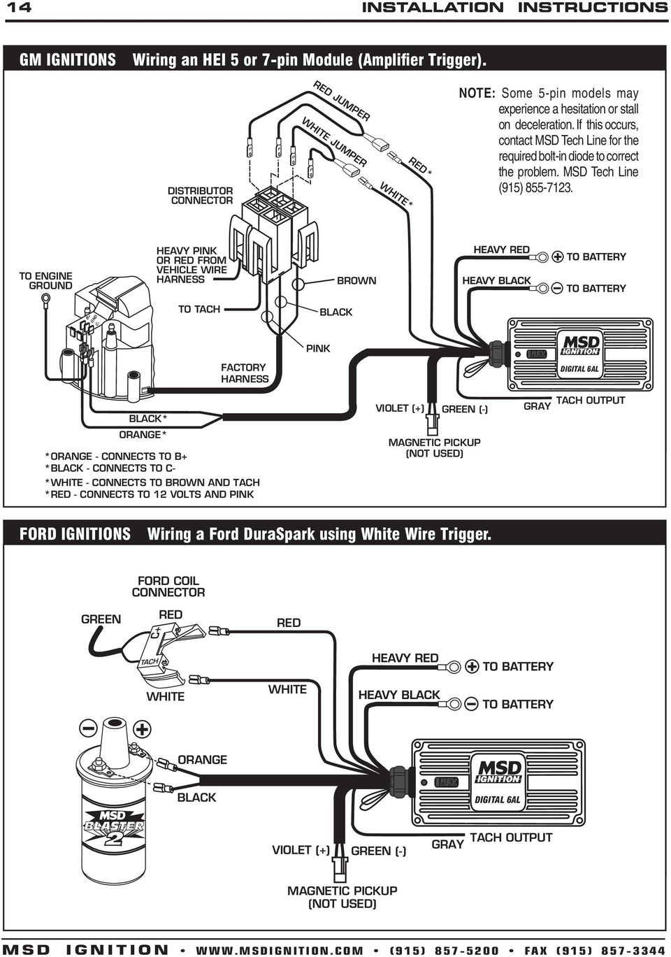 msd 6a wiring diagram chevy msd 7al