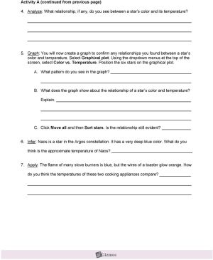 Student Exploration: HR Diagram  PDF