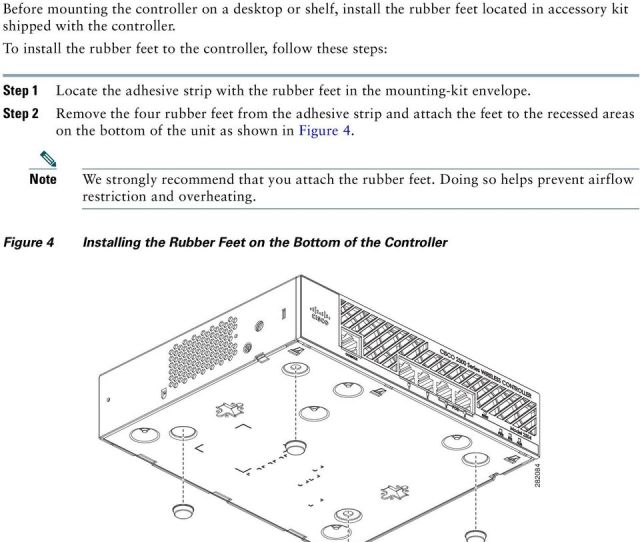 To Install The Rubber Feet To The Controller Follow These Steps Step 1 Step