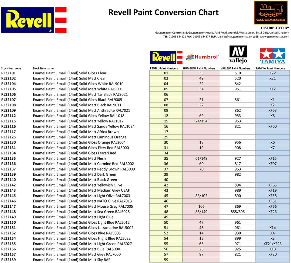 Html Color Number Chart