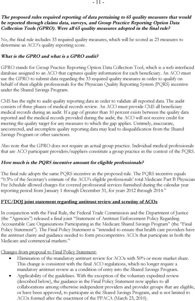 Faqs On The Final Aco Regulations Pdf Free Download